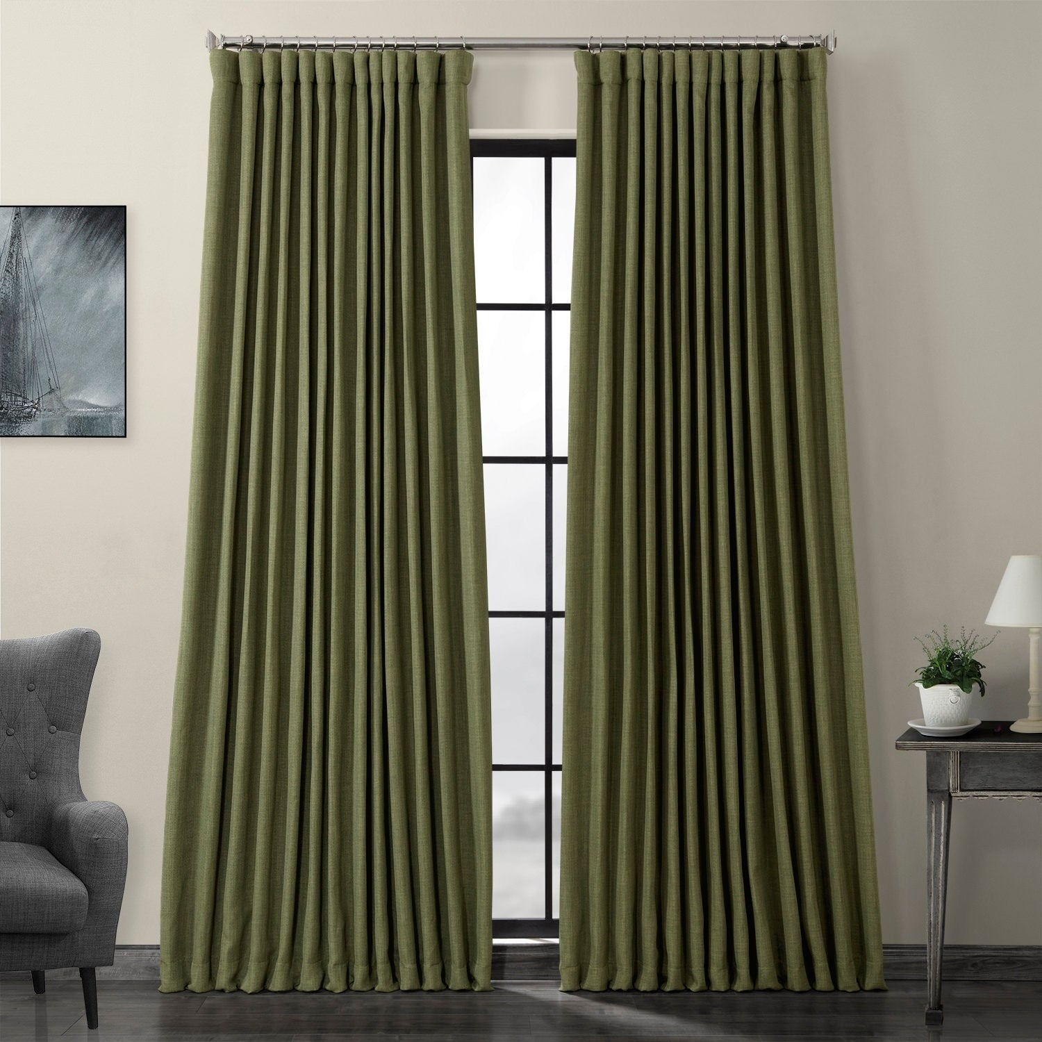 Featured Photo of Faux Linen Extra Wide Blackout Curtains