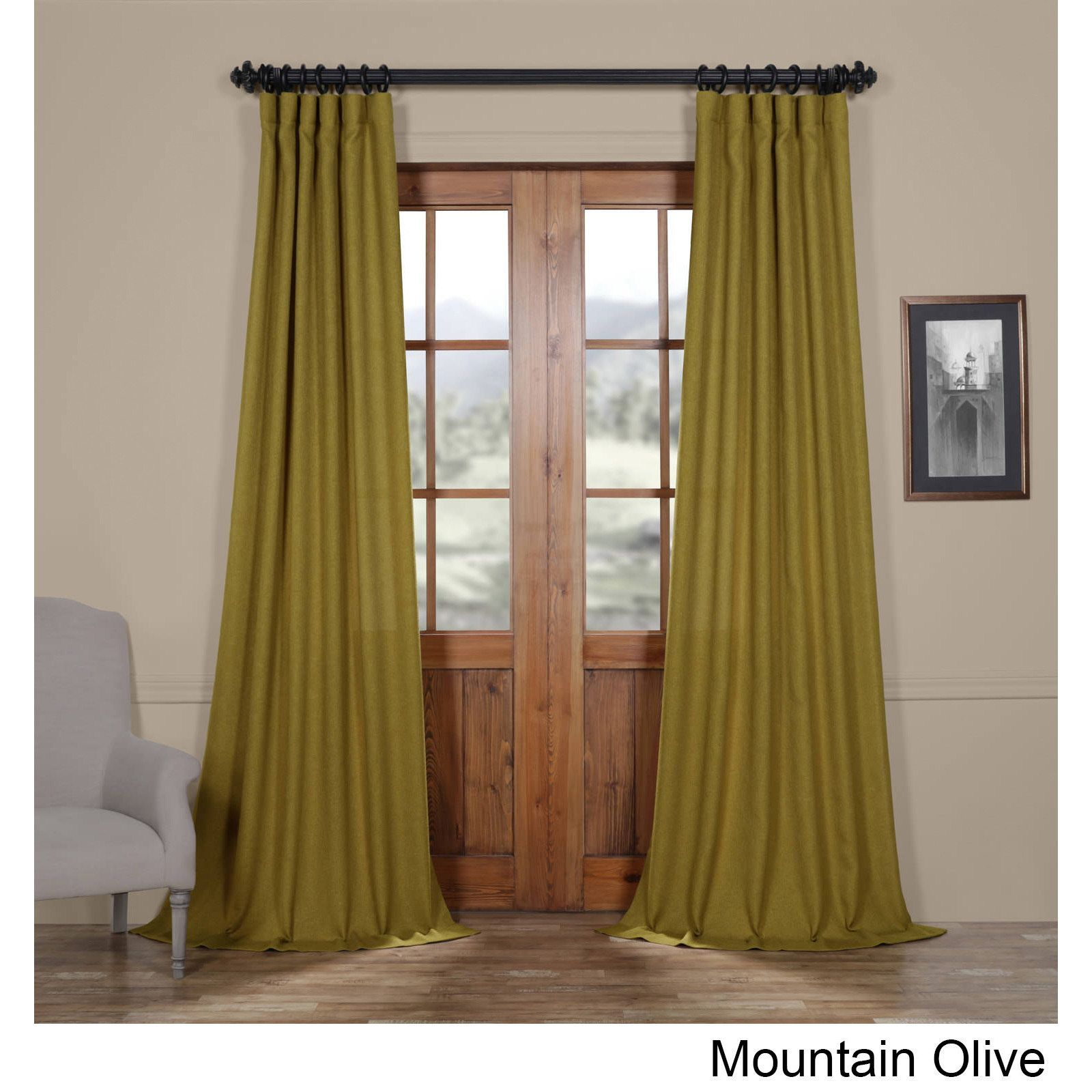 Exclusive Fabrics Faux Linen Semi Sheer Curtain (polar Grey Pertaining To Ombre Faux Linen Semi Sheer Curtains (View 12 of 20)
