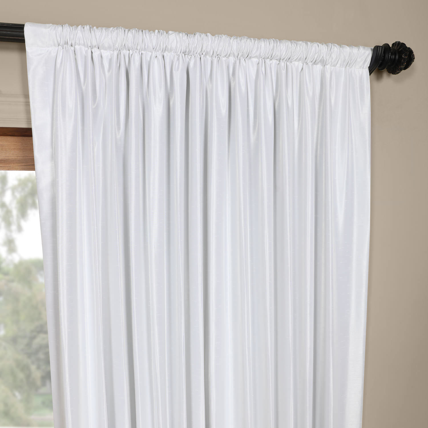 Exclusive Fabrics Faux Silk Extra Wide Blackout Single Curtain Panel Pertaining To Faux Silk Extra Wide Blackout Single Curtain Panels (View 7 of 20)