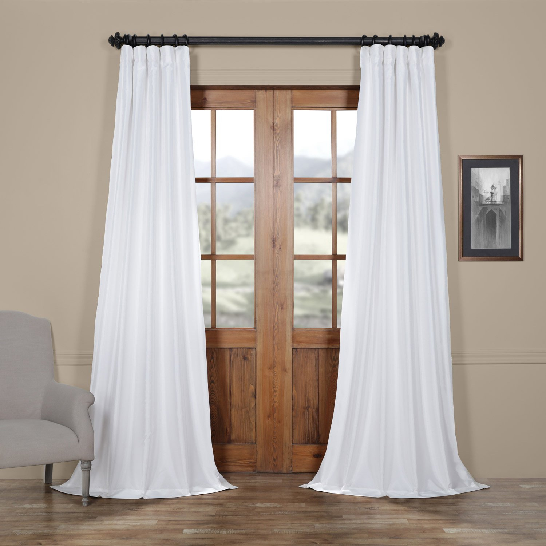 Exclusive Fabrics Faux Silk Taffeta Solid Blackout Curtain Within Faux Silk Taffeta Solid Blackout Single Curtain Panels (View 8 of 20)