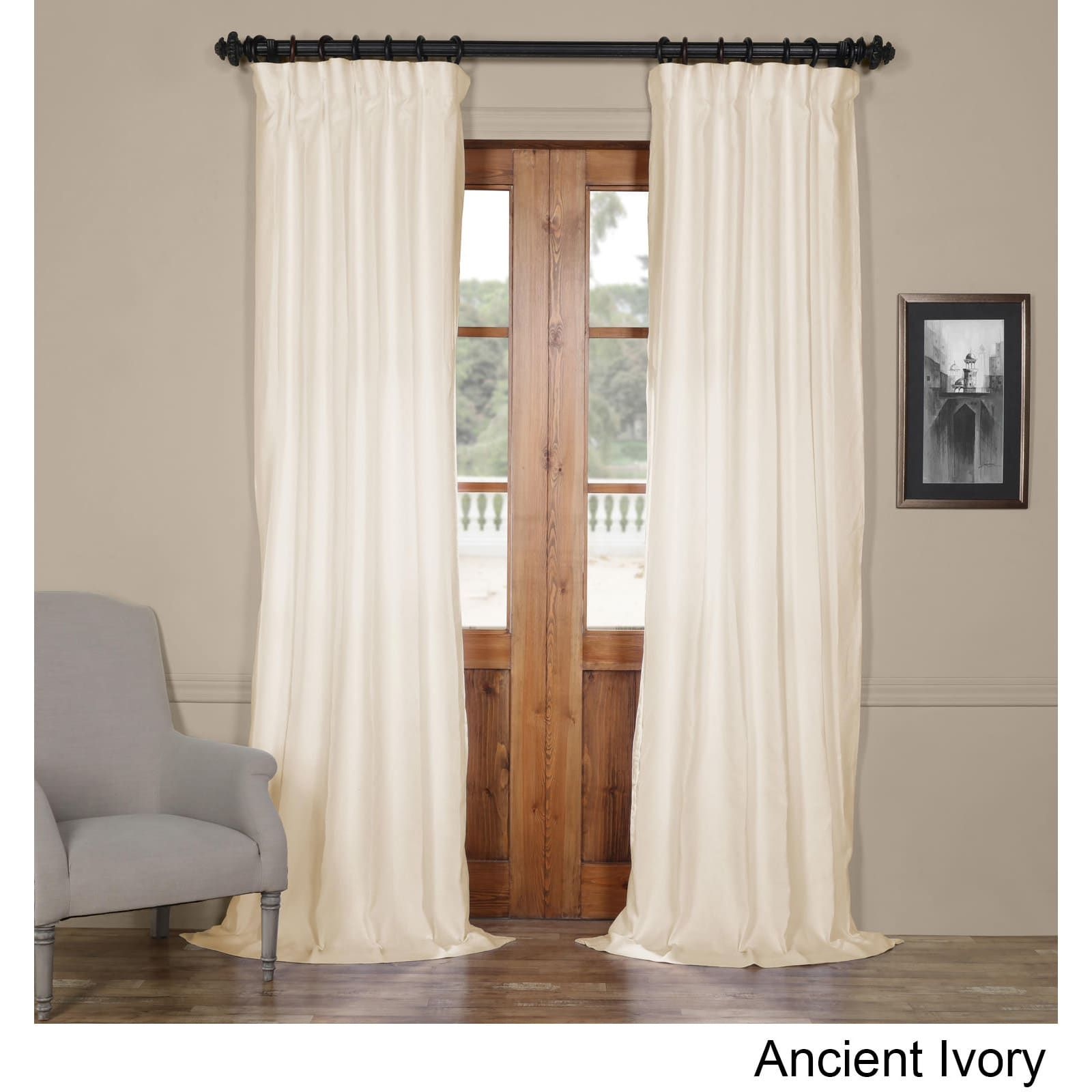 Exclusive Fabrics French Linen Lined Curtain Panel (50 X 84 Inside Signature French Linen Curtain Panels (View 7 of 30)