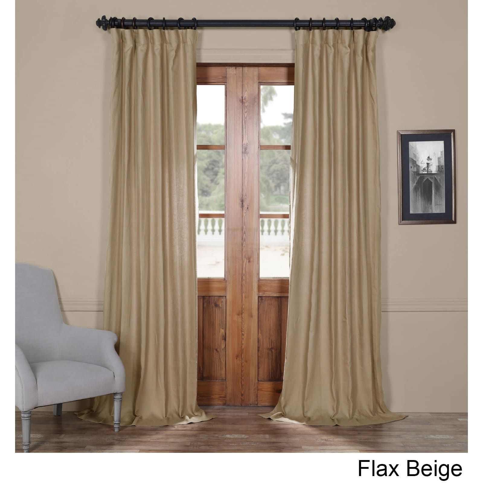Exclusive Fabrics French Linen Lined Curtain Panel (50 X 84 Pertaining To French Linen Lined Curtain Panels (View 6 of 20)