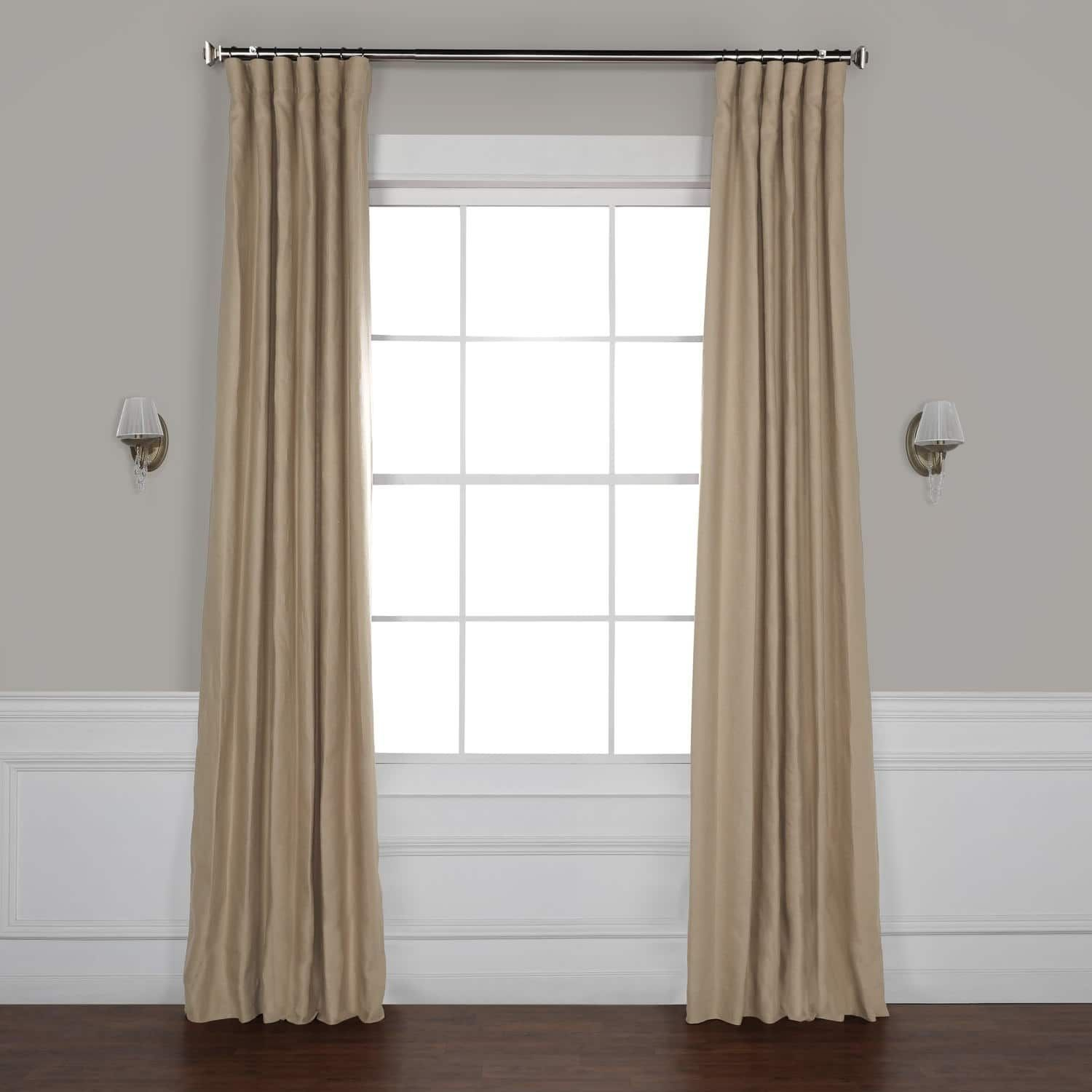 Exclusive Fabrics French Linen Lined Curtain Panel Pertaining To French Linen Lined Curtain Panels (View 3 of 20)