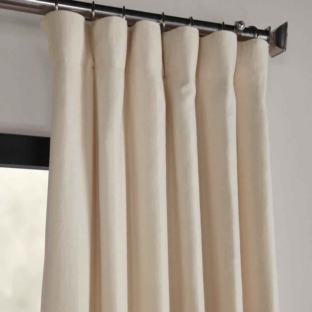 Exclusive Fabrics & Furnishings Ancient Ivory French Linen Curtain – 50 In. W X 120 In (View 4 of 30)