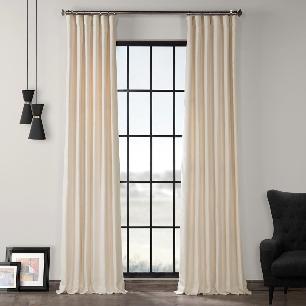 Exclusive Fabrics & Furnishings Ancient Ivory French Linen Curtain – 50 In. W X 120 In (View 8 of 30)