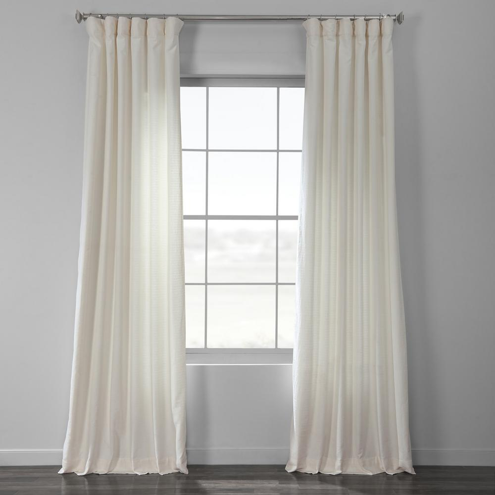 Exclusive Fabrics & Furnishings Birch Bark Weave Solid Cotton Curtain In Ivory – 50 In. W X 96 In (View 5 of 20)