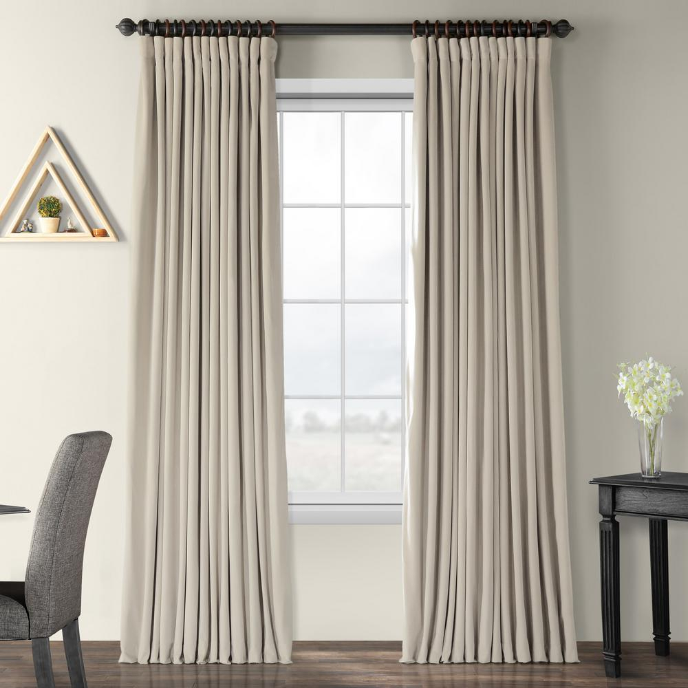Exclusive Fabrics & Furnishings Blackout Signature Cool Beige Doublewide Blackout Velvet Curtain – 100 In. W X 84 In (View 3 of 20)