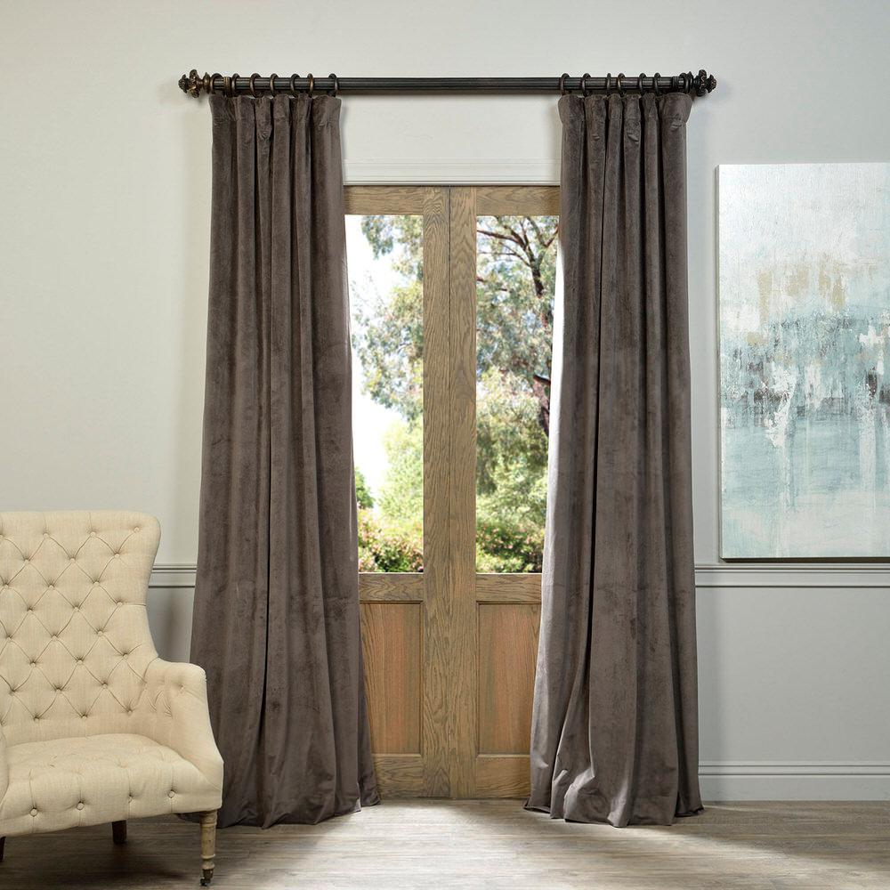 Exclusive Fabrics & Furnishings Blackout Signature Gunmetal Within Signature Blackout Velvet Curtains (View 5 of 20)