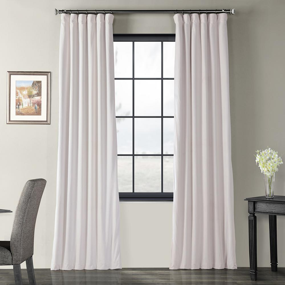 Exclusive Fabrics & Furnishings Blackout Signature Off White Blackout Velvet Curtain – 50 In. W X 84 In (View 9 of 36)