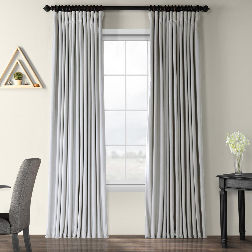 Exclusive Fabrics & Furnishings Blackout Signature Reflection Grey Doublewide Blackout Velvet Curtain – 100 In. W X 120 In (View 10 of 20)