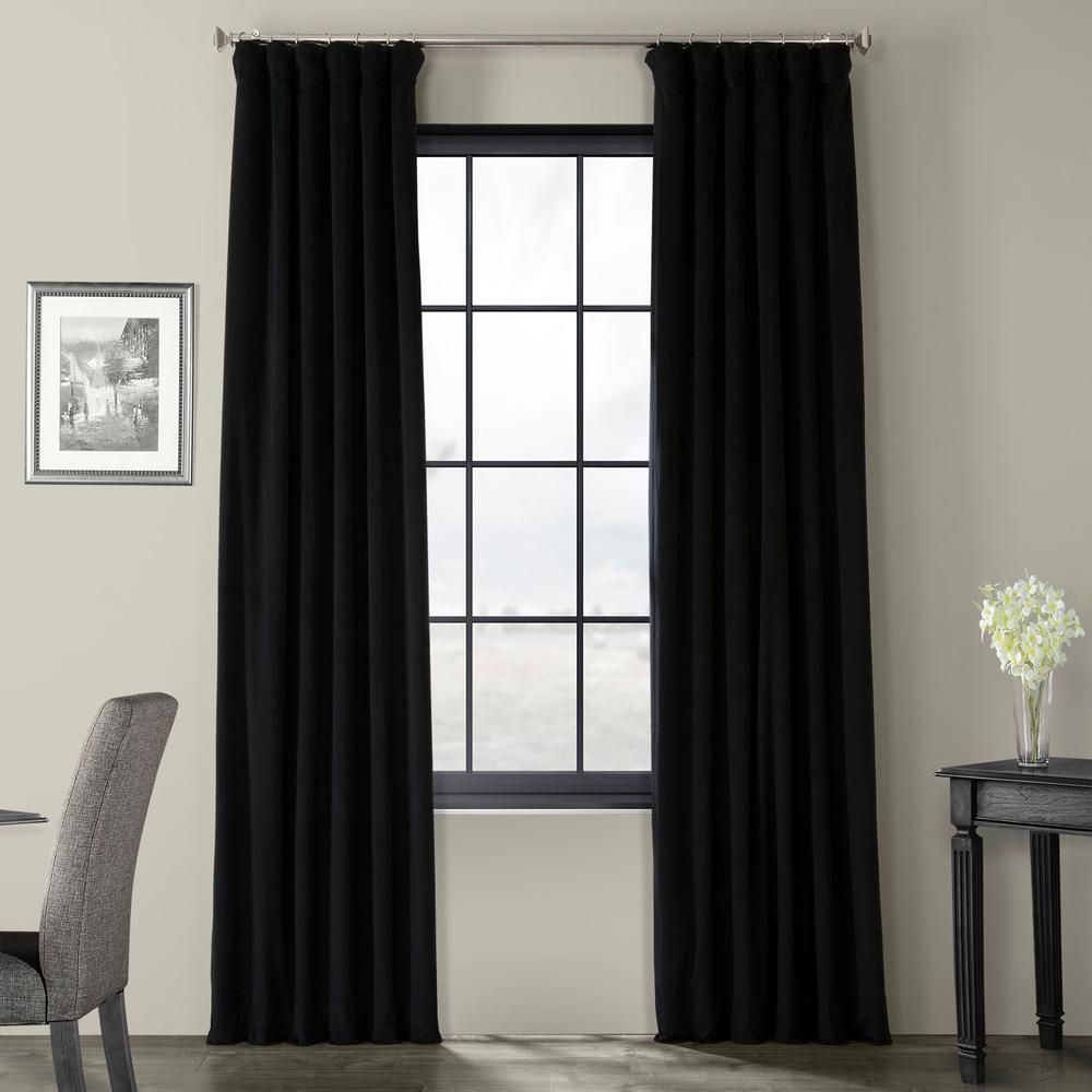 Featured Photo of Warm Black Velvet Single Blackout Curtain Panels