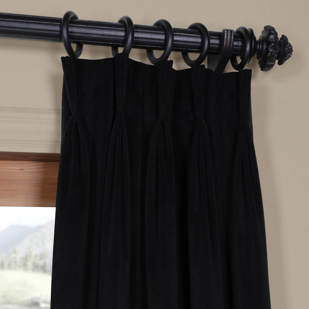 Exclusive Fabrics & Furnishings Blackout Signature Warm Black Pleated – 25 In. W X 108 In (View 10 of 36)