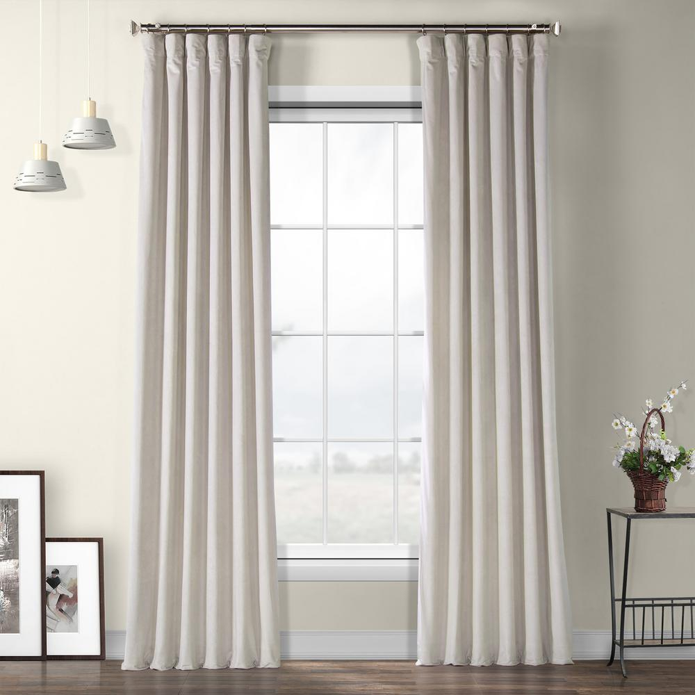 Exclusive Fabrics & Furnishings City Grey Heritage Plush Velvet Curtain – 50 In. W X 96 In (View 6 of 20)
