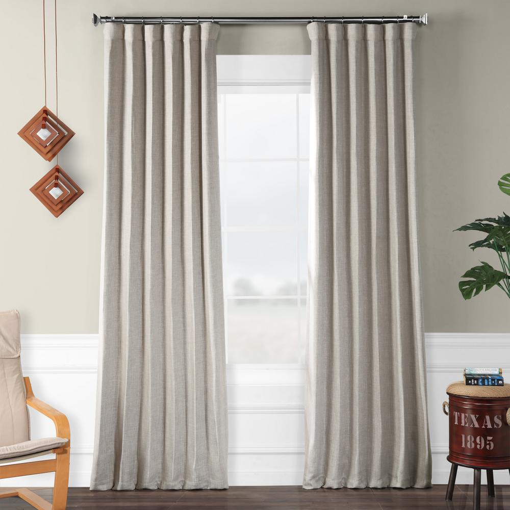 Exclusive Fabrics & Furnishings Clay Beige Faux Linen Blackout Curtain – 50 In. W X 96 In (View 9 of 20)