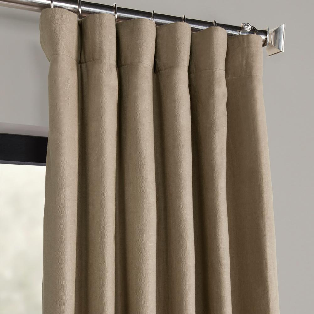 Exclusive Fabrics & Furnishings Flax Beige French Linen Curtain – 50 In. W X 108 In (View 8 of 20)
