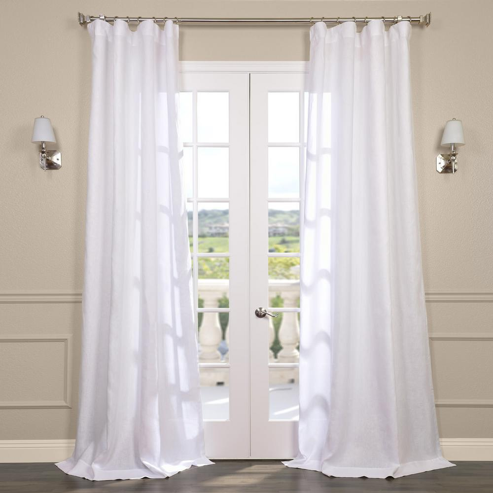 Exclusive Fabrics & Furnishings Purity White Linen Sheer Curtain – 50 In. W X 96 In (View 11 of 20)