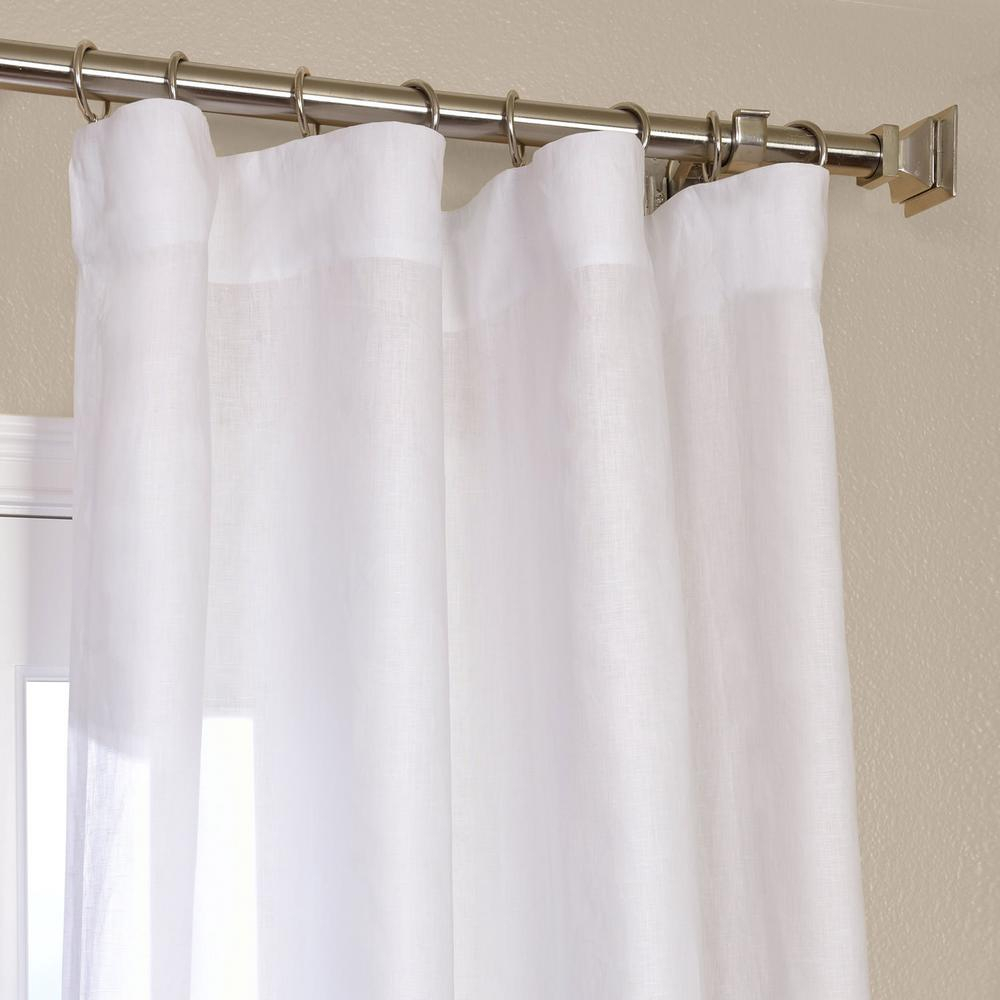 Exclusive Fabrics & Furnishings Purity White Linen Sheer Curtain – 50 In. W X 96 In (View 19 of 20)