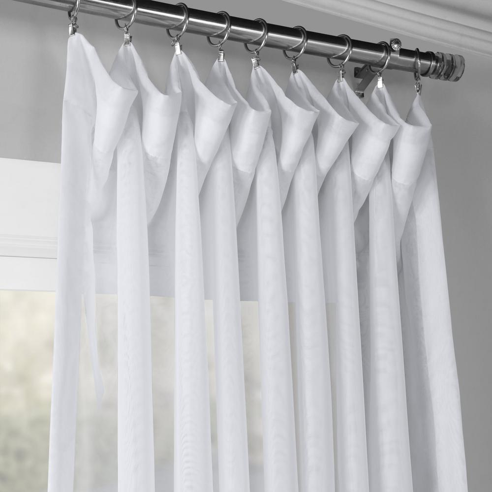 Exclusive Fabrics & Furnishings Signature Double Wide Sheer Curtain In White – 100 In. W X 84 In (View 7 of 30)