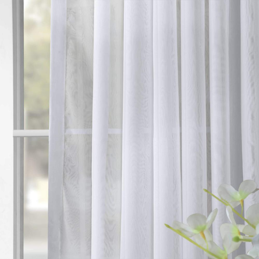 Exclusive Fabrics & Furnishings Signature Double Wide White Sheer Curtain – 100 In. W X 108 In (View 6 of 30)