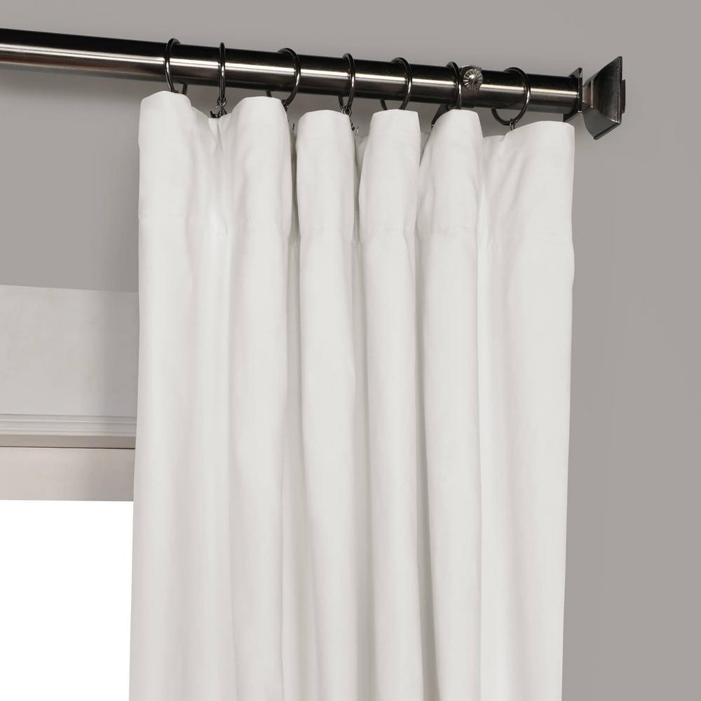 Exclusive Fabrics & Furnishings Whisper White Solid Cotton Blackout Curtain – 50 In. W X 96 In (View 13 of 30)