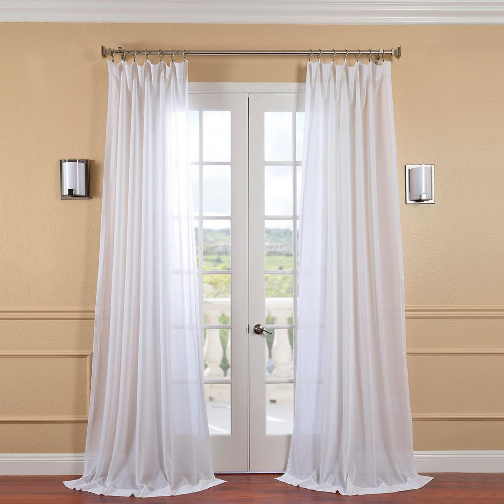 Exclusive Fabrics & Furnishings White Orchid Faux Linen Sheer Curtain – 50 In. W X 96 In (View 15 of 20)