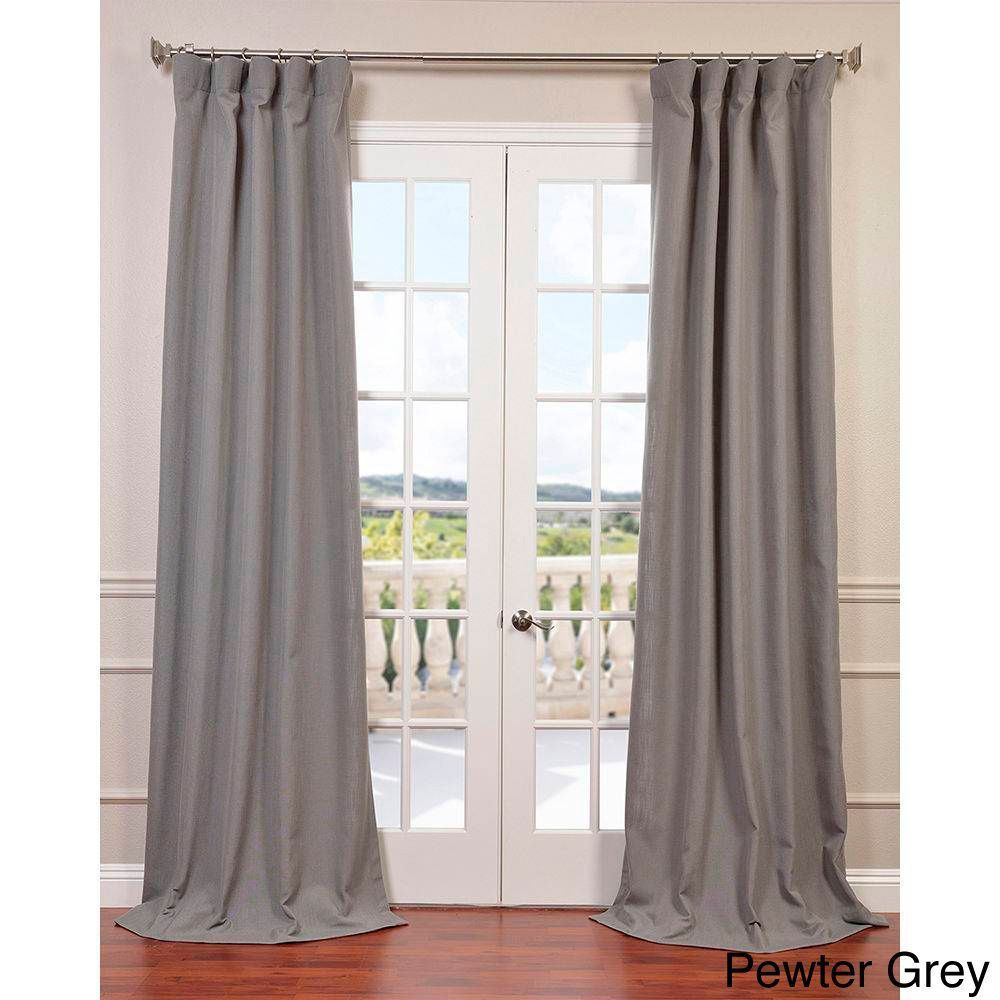 Exclusive Fabrics Heavy Faux Linen Curtain Panel (Pewter For Heavy Faux Linen Single Curtain Panels (View 10 of 20)