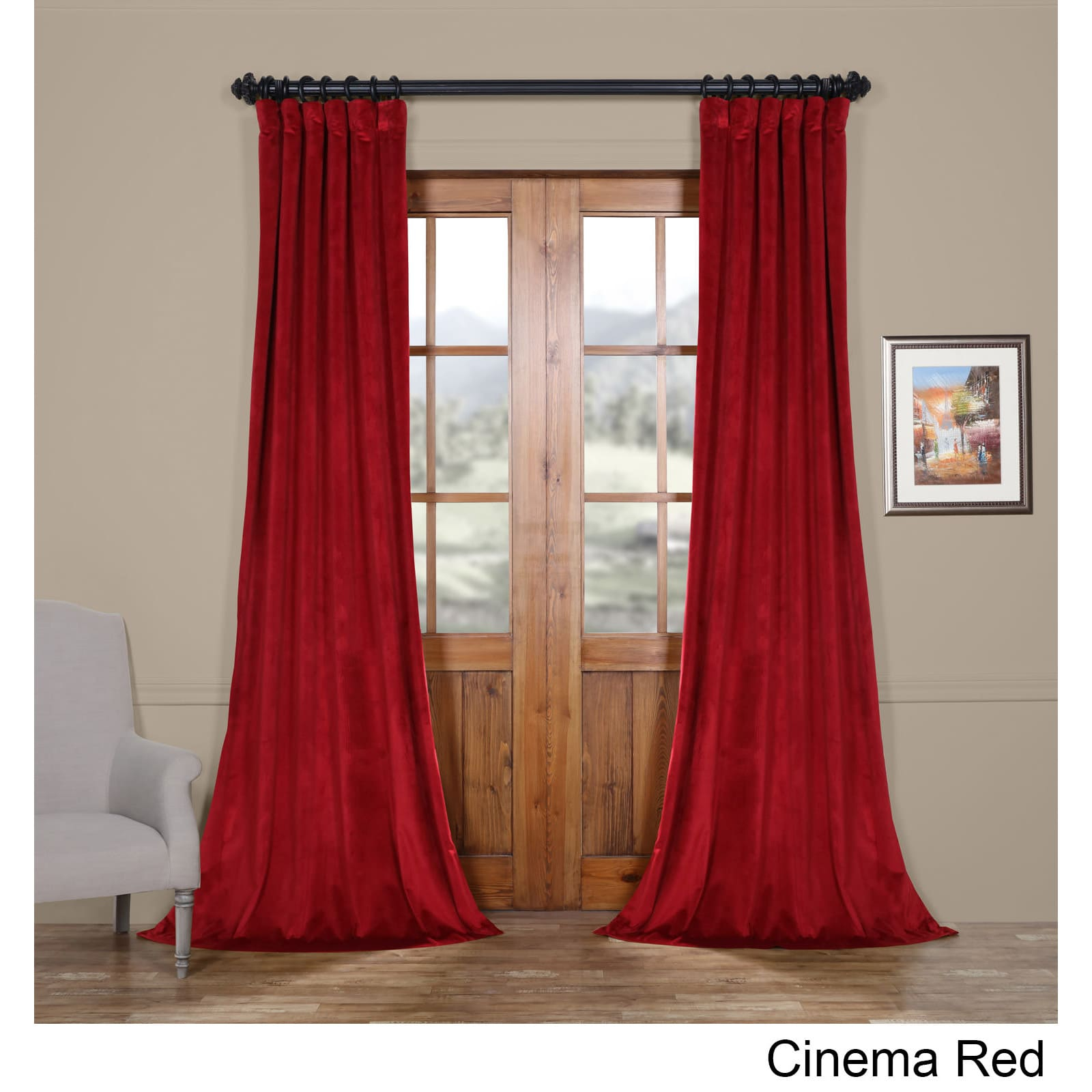 Exclusive Fabrics Heritage Plush Velvet Curtain In 2019 Regarding Heritage Plush Velvet Curtains (View 5 of 20)