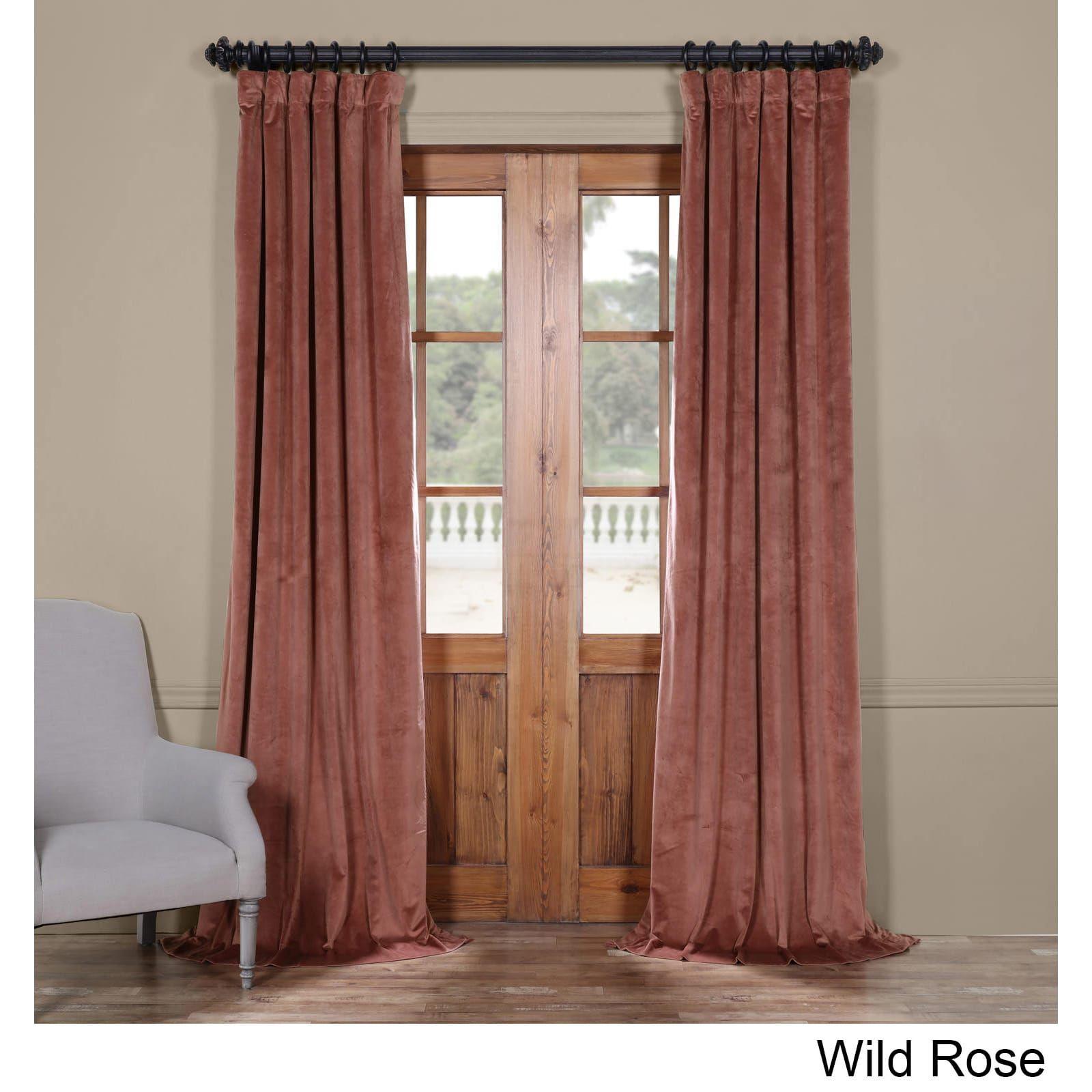 Exclusive Fabrics Heritage Plush Velvet Curtain (wild Rose Within Heritage Plush Velvet Single Curtain Panels (View 8 of 20)