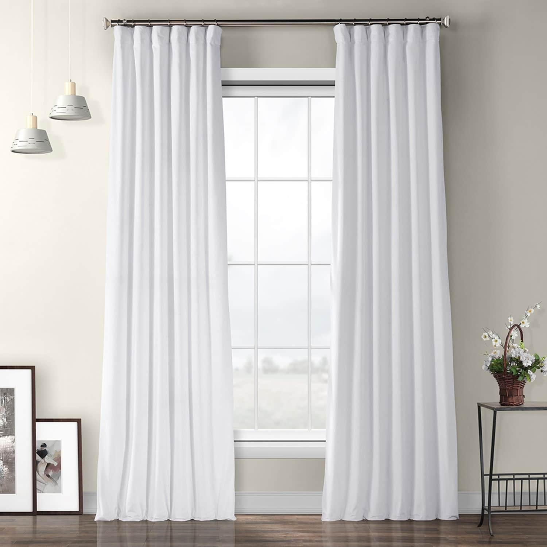 Exclusive Fabrics Heritage Plush Velvet Single Curtain Panel For Heritage Plush Velvet Single Curtain Panels (View 9 of 20)