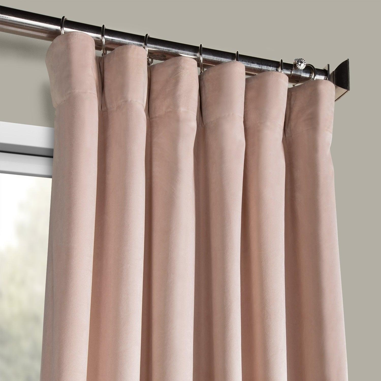 Exclusive Fabrics Heritage Plush Velvet Single Curtain Panel Inside Heritage Plush Velvet Curtains (View 15 of 20)