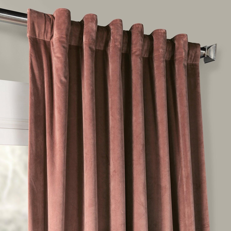 Exclusive Fabrics Heritage Plush Velvet Single Curtain Panel Intended For Heritage Plush Velvet Single Curtain Panels (View 16 of 20)