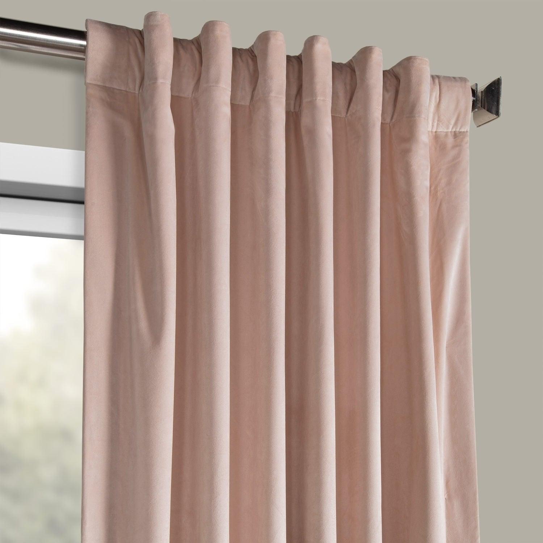 Exclusive Fabrics Heritage Plush Velvet Single Curtain Panel With Regard To Heritage Plush Velvet Single Curtain Panels (View 2 of 20)