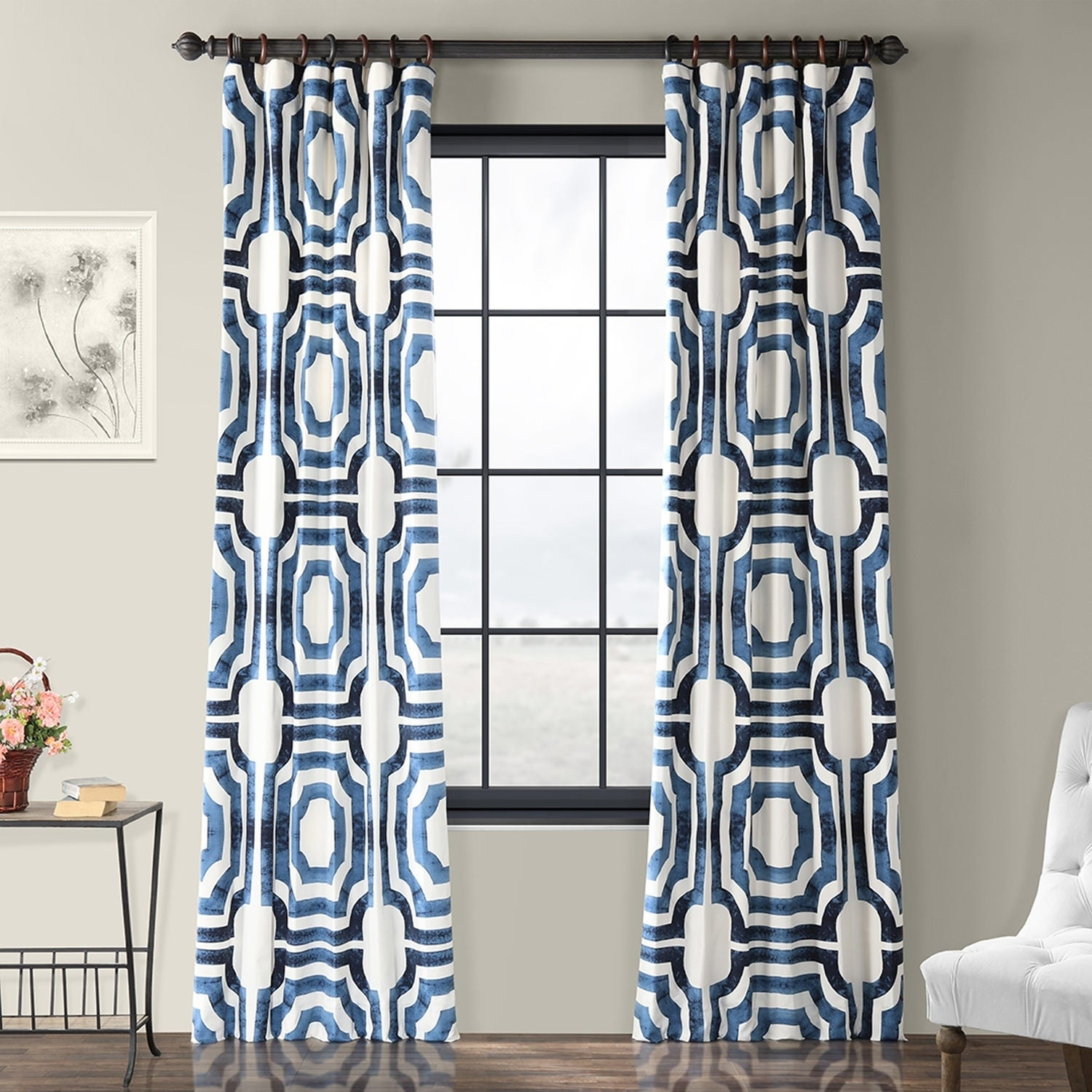 Featured Photo of Mecca Printed Cotton Single Curtain Panels