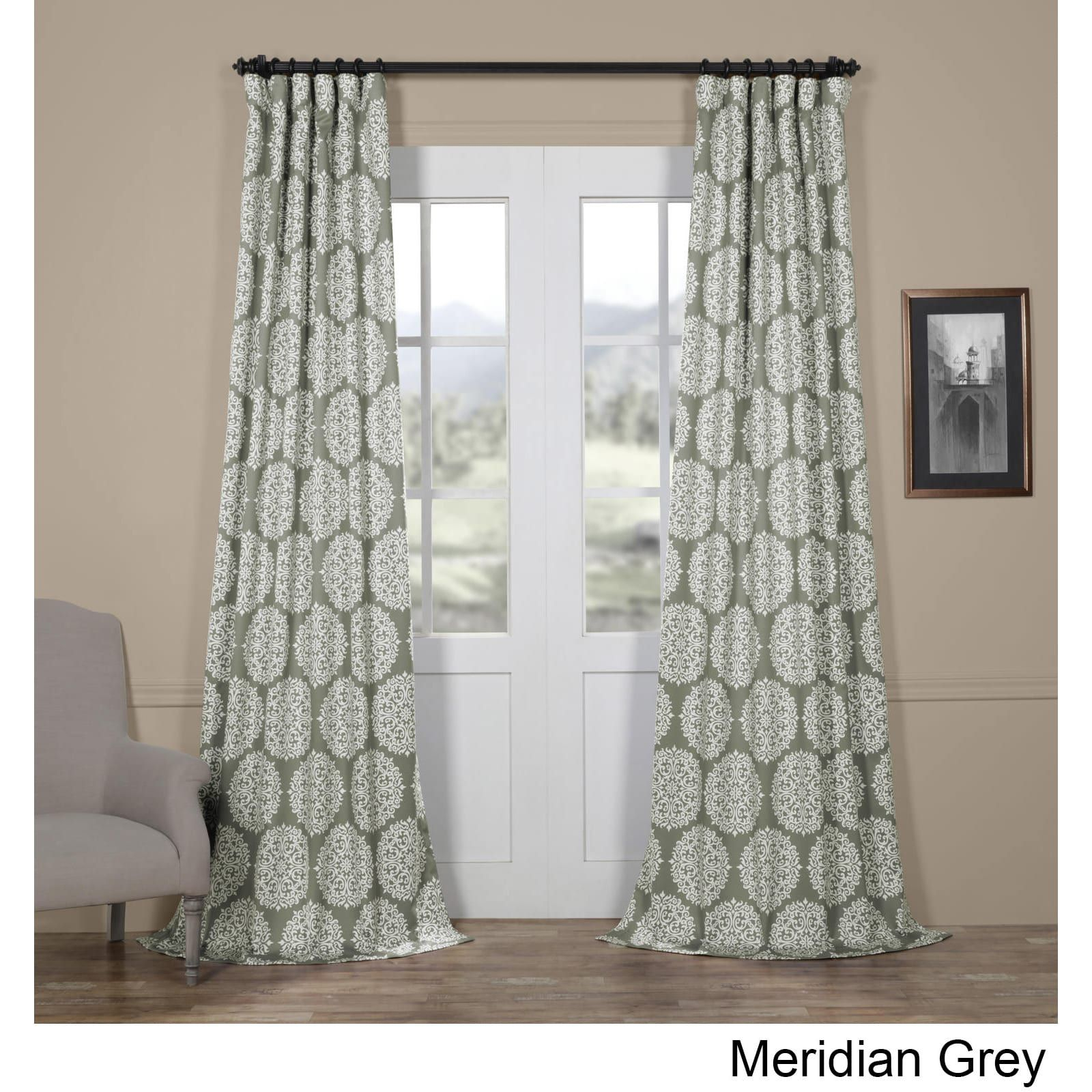 Exclusive Fabrics Meridian Blackout Curtain Panel Pair (50 X Within Meridian Blackout Window Curtain Panels (View 12 of 20)