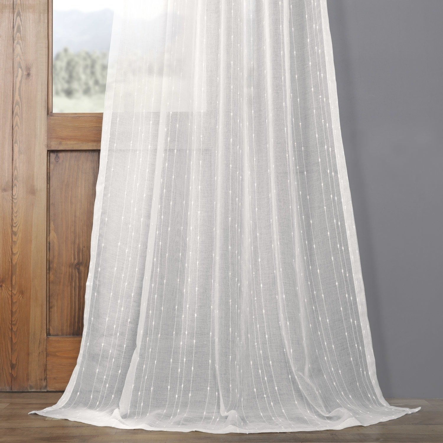 Exclusive Fabrics Montpellier Striped Linen Sheer Curtain In Montpellier Striped Linen Sheer Curtains (View 5 of 20)