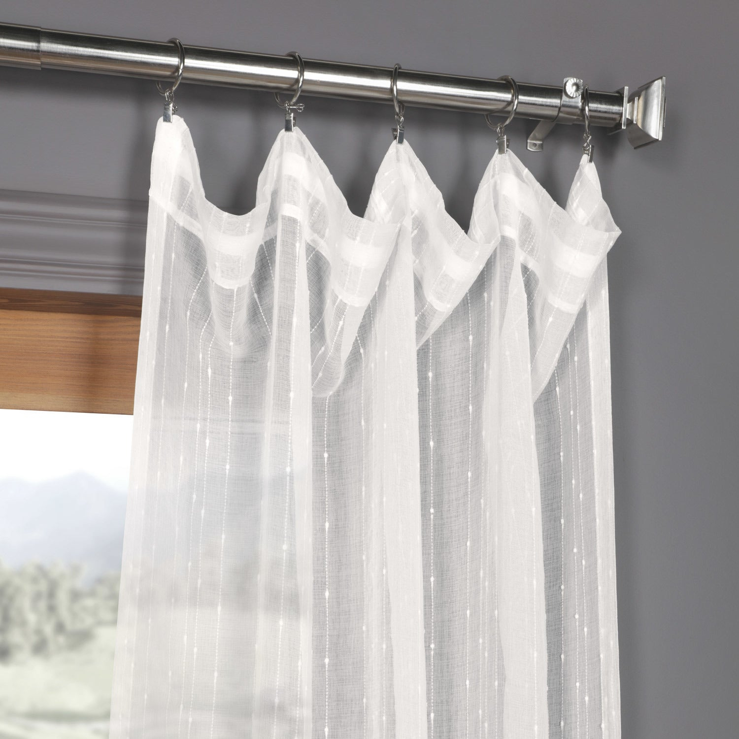 Exclusive Fabrics Montpellier Striped Linen Sheer Curtain With Montpellier Striped Linen Sheer Curtains (View 3 of 20)