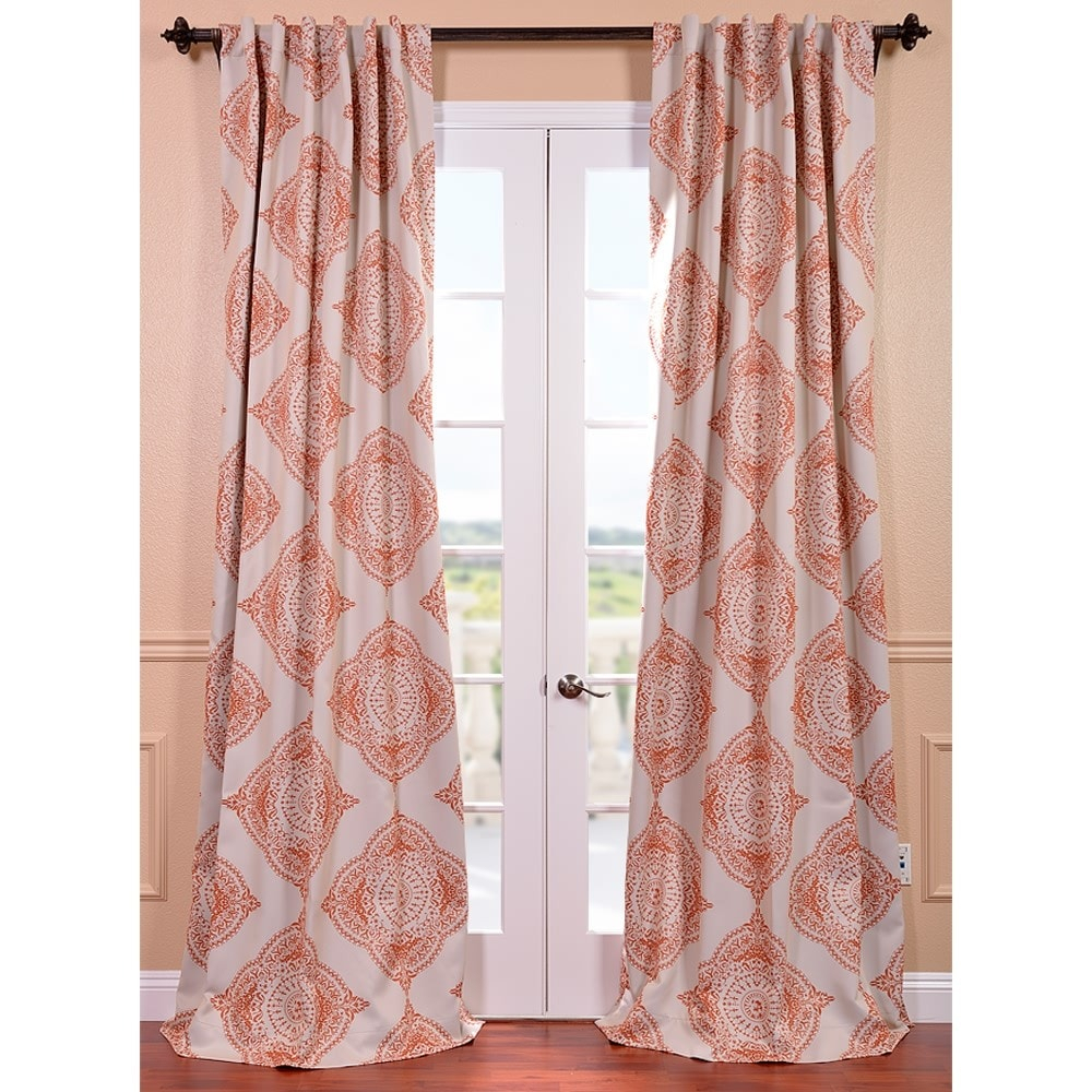 Exclusive Fabrics Moroccan Style Thermal Insulated Blackout Curtain Panel Pair Within Moroccan Style Thermal Insulated Blackout Curtain Panel Pairs (View 13 of 20)