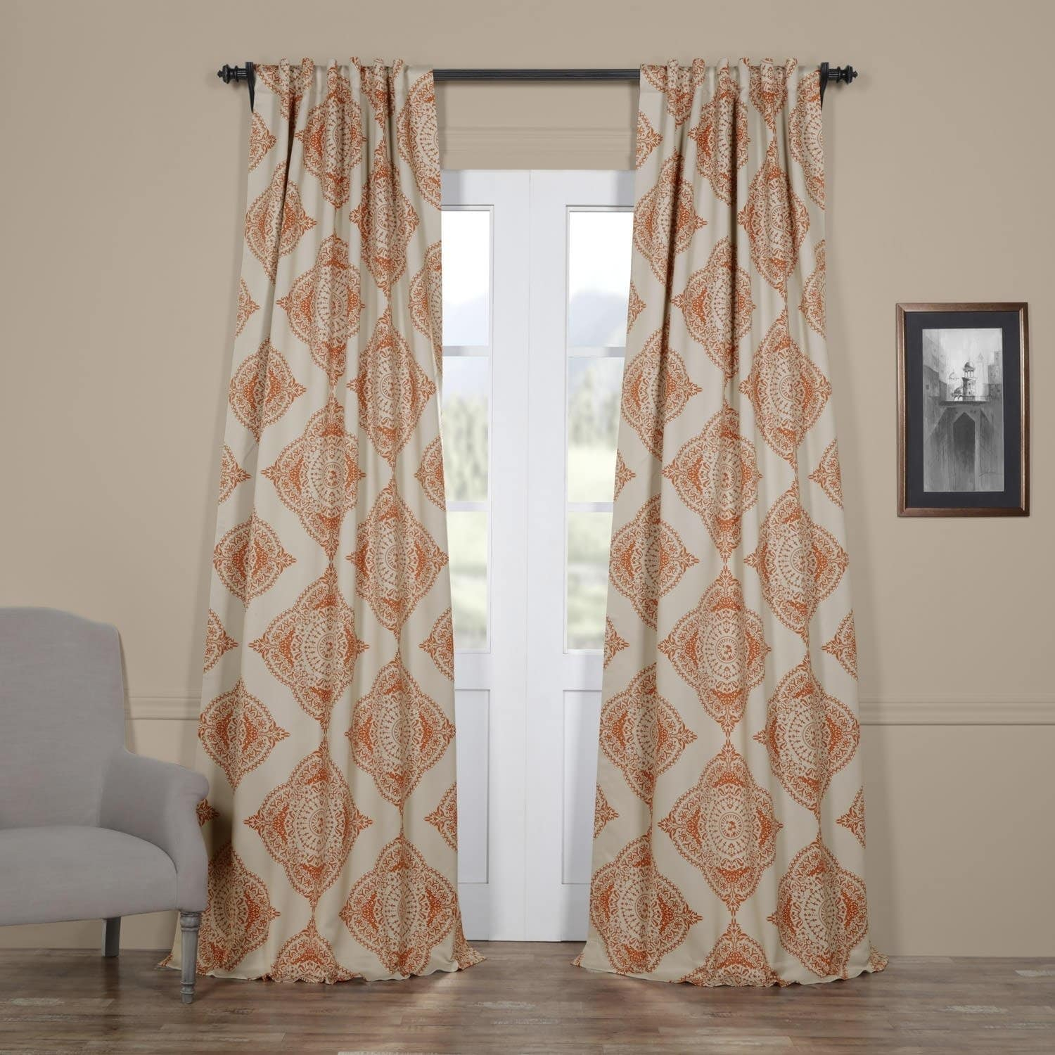 Exclusive Fabrics Moroccan Style Thermal Insulated Blackout Pertaining To Solid Insulated Thermal Blackout Curtain Panel Pairs (View 13 of 30)