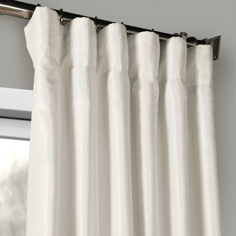 Exclusive Fabrics Off White Vintage Faux Textured Dupioni Silk Curtain Throughout Off White Vintage Faux Textured Silk Curtains (View 6 of 20)