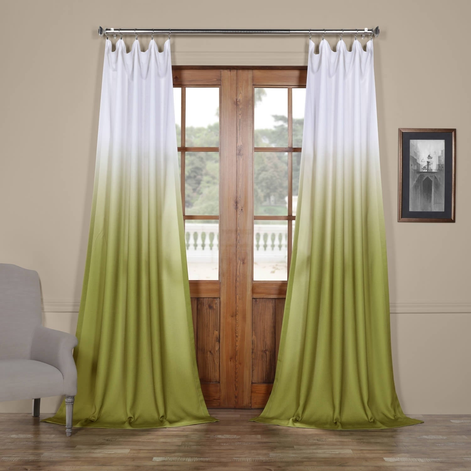 Featured Photo of Ombre Faux Linen Semi Sheer Curtains