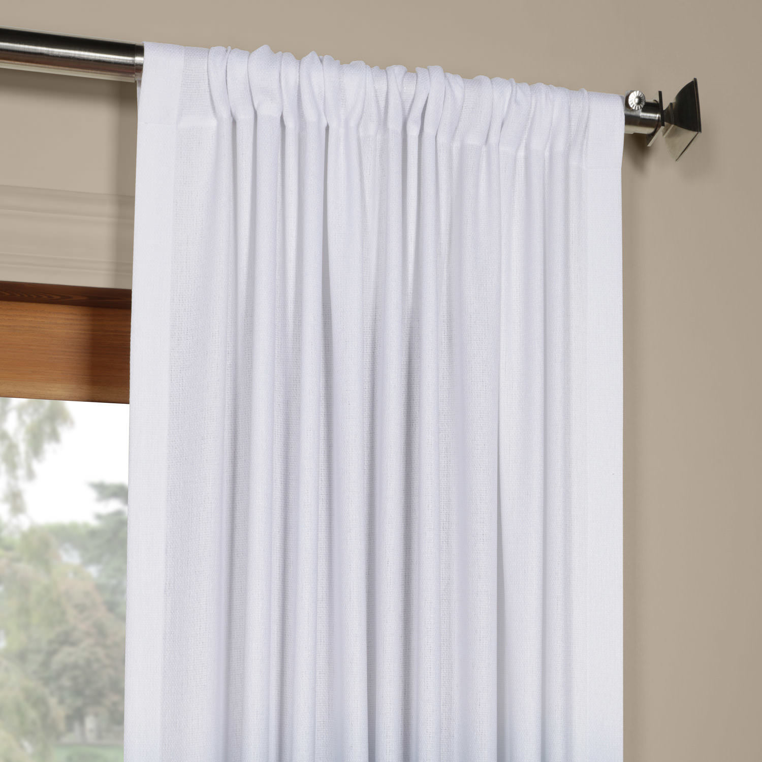 """Exclusive Fabrics Ombre Faux Linen Semi Sheer Curtain 96"""" In Aqua (as Is Item) 