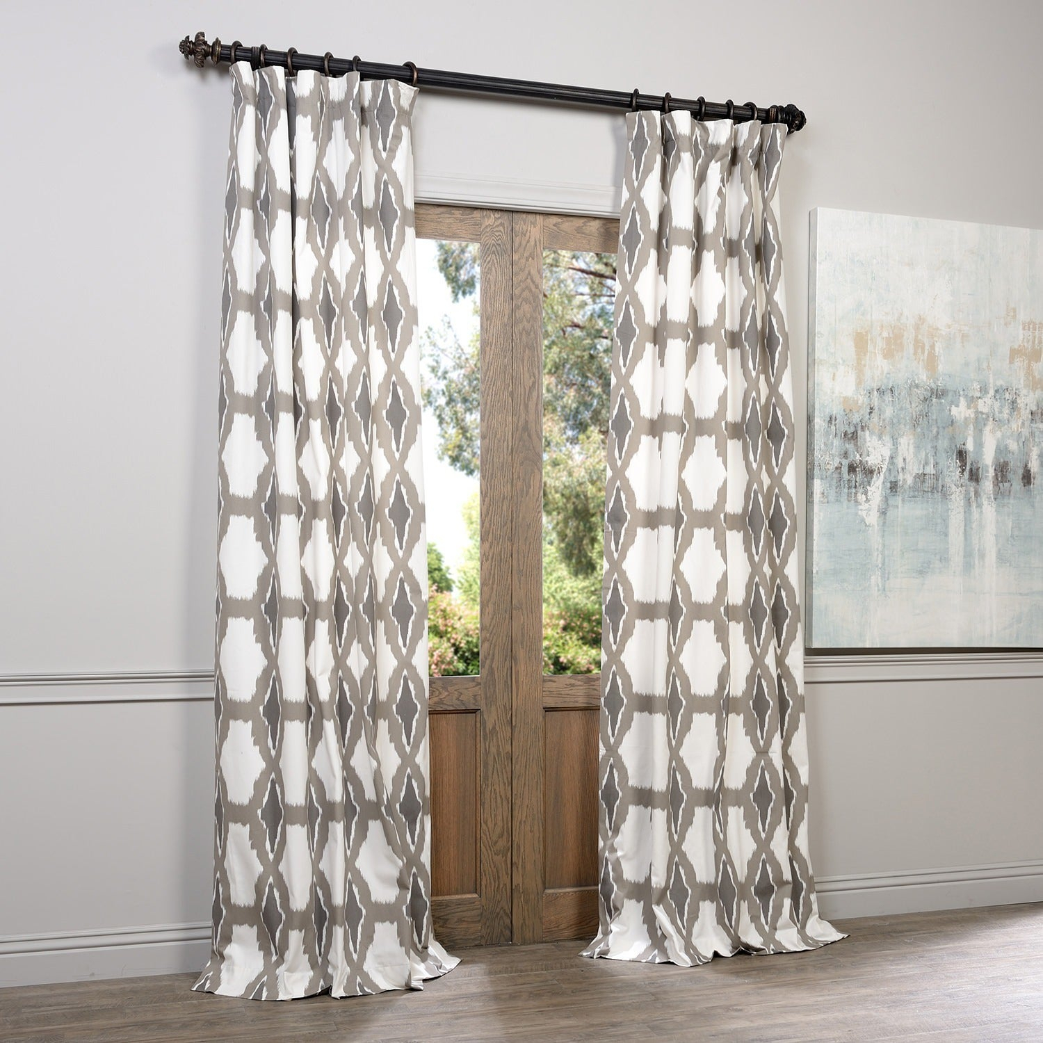Featured Photo of Grey Printed Curtain Panels