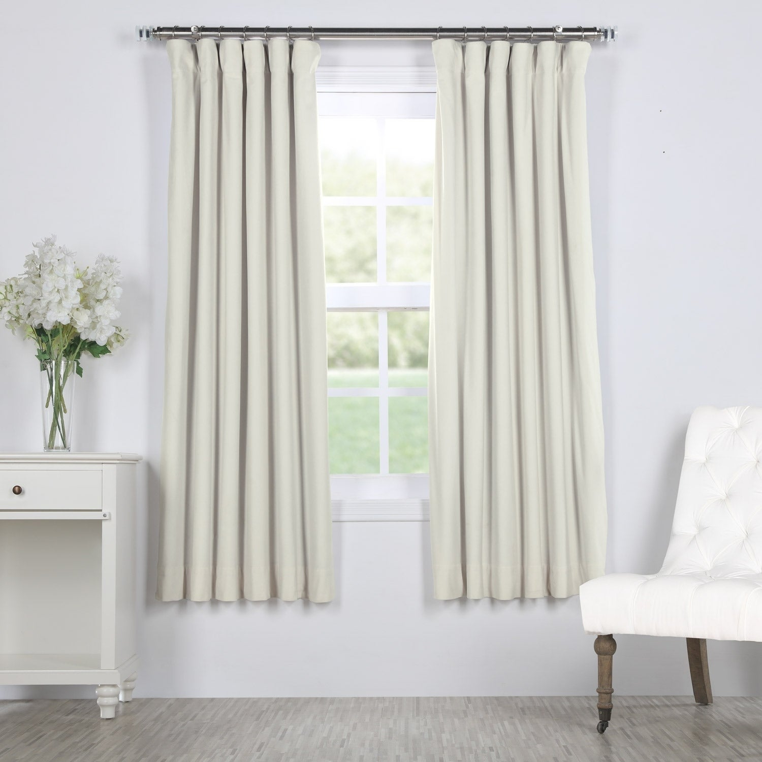 "Exclusive Fabrics Signature Blackout Velvet 63"" Length Curtain – 50 X 63 In Signature Blackout Velvet Curtains (View 8 of 20)"