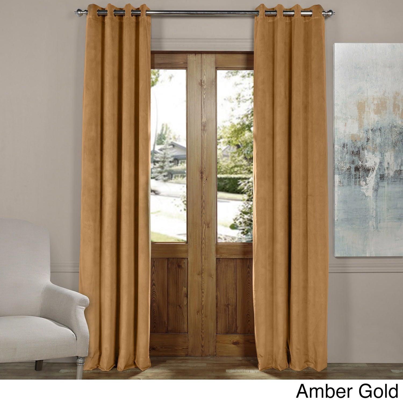 Exclusive Fabrics Signature Blackout Velvet Grommet Top Curtain Panel Throughout Signature Blackout Velvet Curtains (View 12 of 20)
