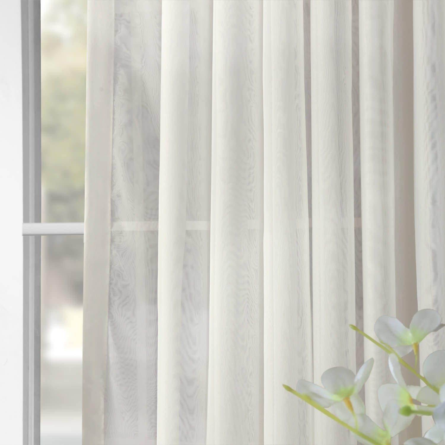 Exclusive Fabrics Signature Extrawide Double Layer Sheer Curtain Panel For Signature Extrawide Double Layer Sheer Curtain Panels (View 3 of 11)