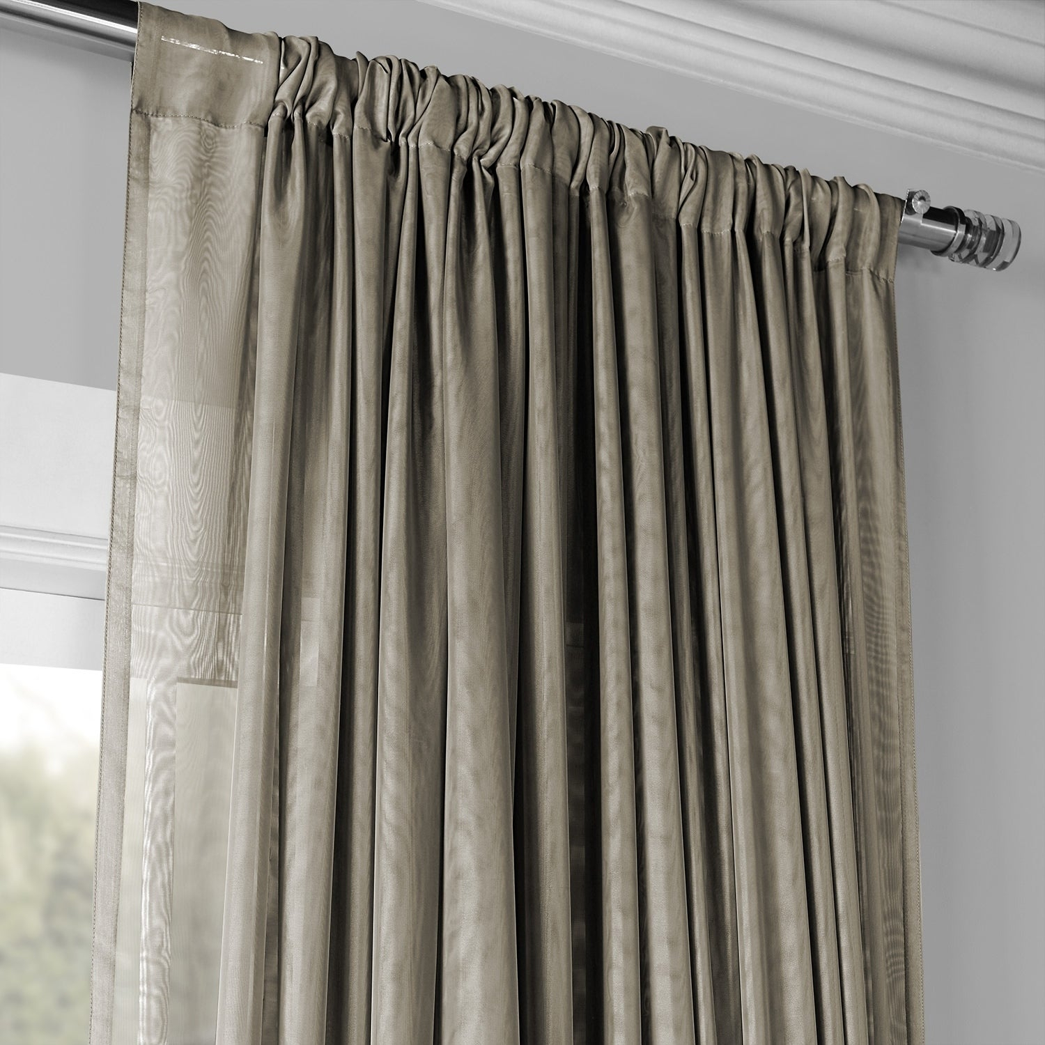 Exclusive Fabrics Signature Extrawide Double Layer Sheer Curtain Panel Intended For Signature White Double Layer Sheer Curtain Panels (View 9 of 30)
