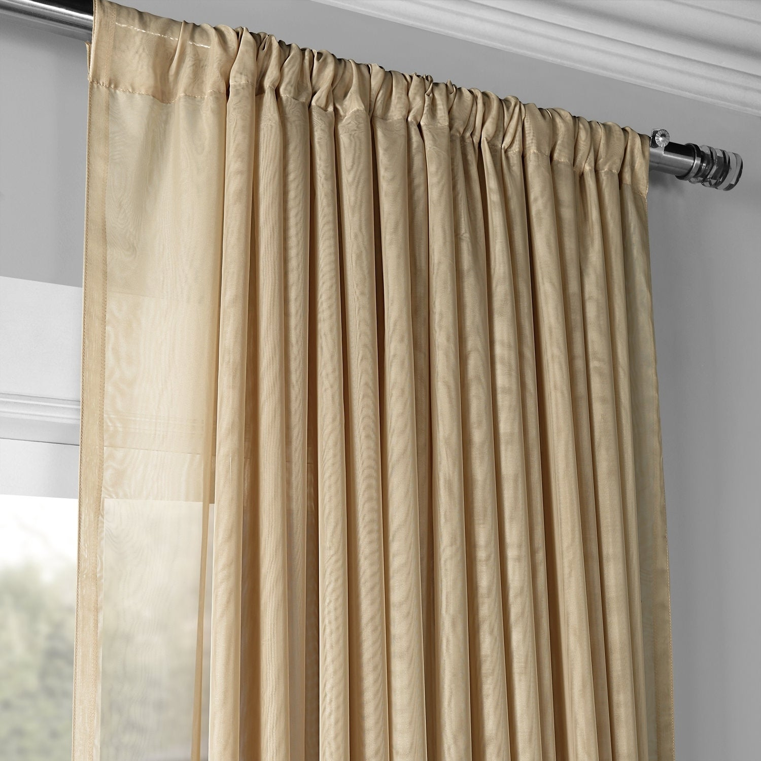 Exclusive Fabrics Signature Extrawide Double Layer Sheer Curtain Panel Throughout Signature White Double Layer Sheer Curtain Panels (View 11 of 30)