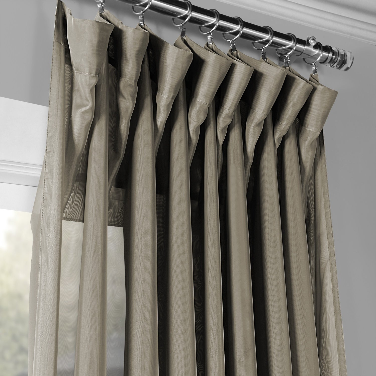 Exclusive Fabrics Signature Extrawide Double Layer Sheer Curtain Panel With Regard To Signature Extrawide Double Layer Sheer Curtain Panels (View 8 of 11)