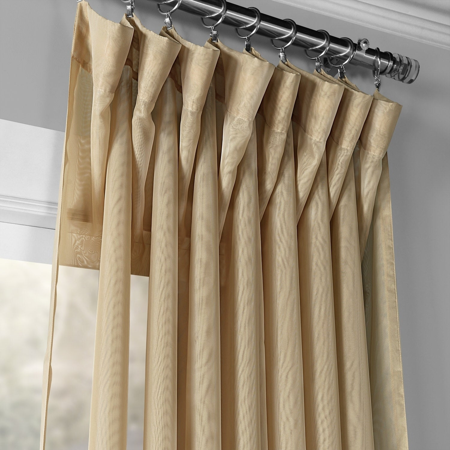 Exclusive Fabrics Signature Extrawide Double Layer Sheer Curtain Panel Within Signature Extrawide Double Layer Sheer Curtain Panels (View 10 of 11)
