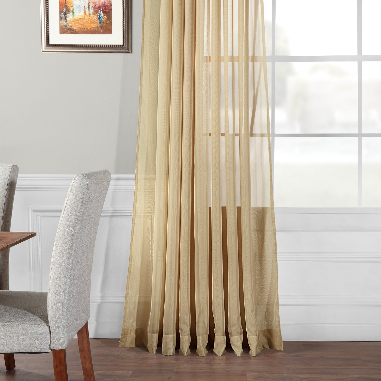 Exclusive Fabrics Signature Extrawide Double Layer Sheer Curtain Panel Within Signature Extrawide Double Layer Sheer Curtain Panels (View 9 of 11)